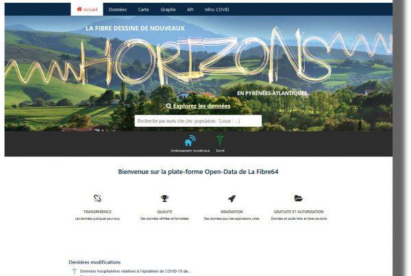 Portail open data La Fibre64